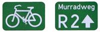 Murradweg R2 Hinweisschilder