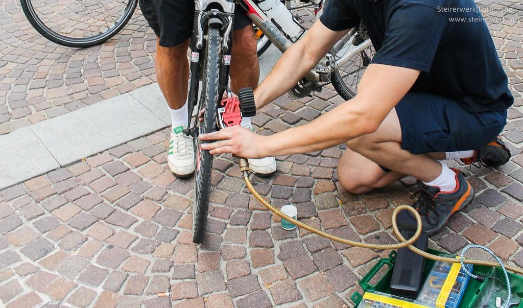 Fahrradreifen Überprüfung