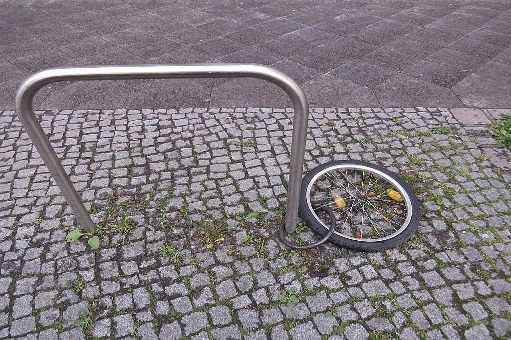 Fahrraddiebe haben es in Österreich durch falsche Sicherung leicht