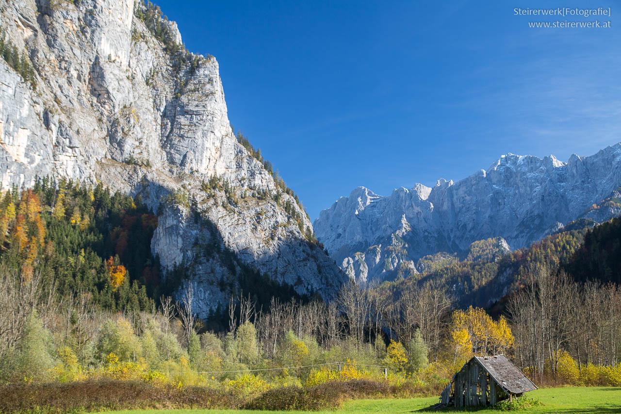 Ennsradweg durch die Steiermark - Blick auf das Gesäuse